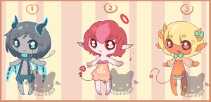 Tiny Demon Adopts (closed) by LizardBat