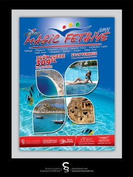 Magic Fethiye Poster by SanalSanat