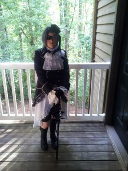The First Draft of my Ciel Phantomhive cosplay by BVBArmy616