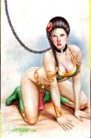 SLAVE PRINCESS LEIA by JUN DE FELIPE  (02192016) by rodelsm21