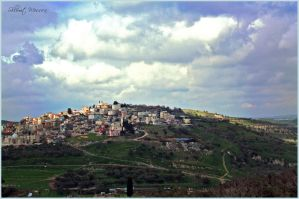 Village on the hill by ShlomitMessica