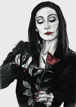Morticia Addams by Lariethene