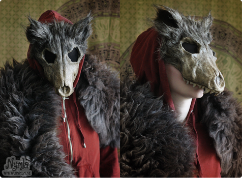 Red Ridinghood Wolf Mask #1 by Nymla