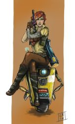 Lilith and Claptrap by LornaKelleherArt