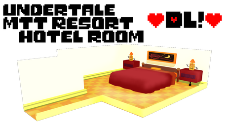 Undertale MTT Resort hotel room ~DL!~ by sakuraD28