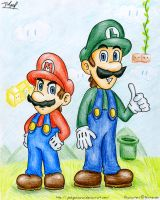 The Mario Brothers by Jedgesaurus