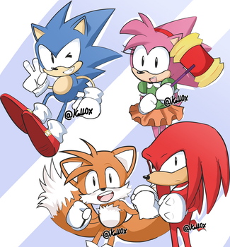 Sonic and friends by Kell0x
