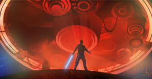 Luke and the Carbon Freezing Chamber by TK769