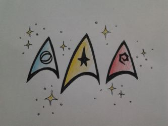 Star trek logo by moon-drawing
