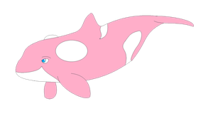Smol Pink Gay Whale by Dolphingurl21stuff