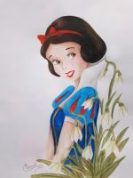 Snow White and Snowdrops by Elveariel
