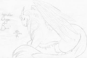Sketch - Ispiration Dragon for Dawn by Jenlinkitty
