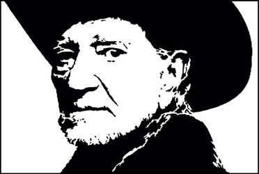 Willie Nelson Silhouette Pattern by HTYMSITI