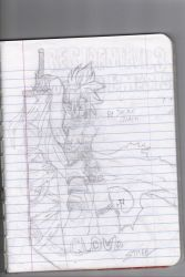 My Attempt on Cloud Strife by Aznwithnolifebutart