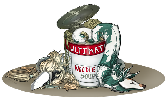 Noodle colab with Peculiar9 by KJfromColors