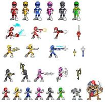 Mighty Morphin Sprites by Curty86