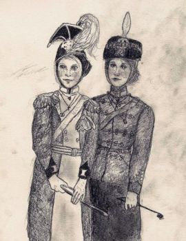 Tatiana and Olga regiments by soleit