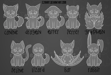 9 Chibi Animals | $30 P2U | CAN MAKE ADOPTABLES FR by EzriArt