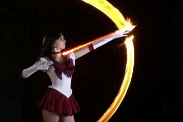 Sailor Mars: Mars Flame Sniper by charliechappy