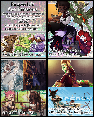Commissions Page August 2016 by Pepperly