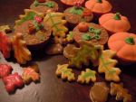 Autumn cupcakes and cookies by myrnamarinda