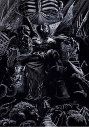 Spawn Sketch on black by LucaStrati