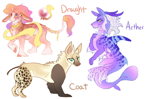(CLOSED) Draconequus Pony Adopts by Amiookamiwolf