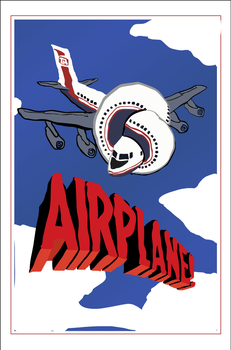 Movie Poster Illustrations: Airplane! by Vigorousjammer