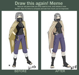 Before and after meme ft Eki-tan by Baztey