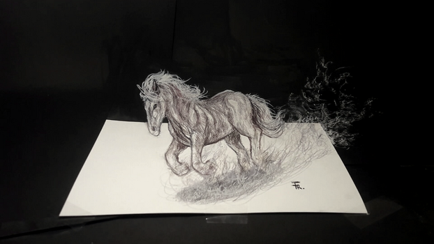 3D Horse (timelapse video available) by Yakise