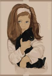 girl with cat by shadymoonlight