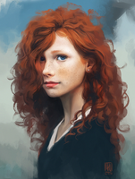 Portrait practice 02. by mkw-no-ossan