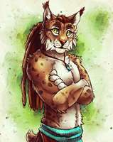 Friendly Lynx - Sketch by TasDraws
