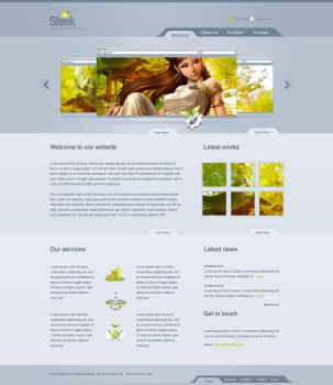 Sleek Design - Web 2.0 Layout by detrans