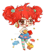 Creative Candy Obsessions Chibi Commish by YamPuff