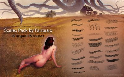 29 Scales Brushes For Photoshop by fantasio