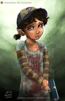 Clementine will remember by Radiant-Grey