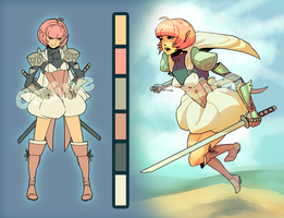 Character Auction: Elf Samurai Girl [CLOSED] by LilyOndine