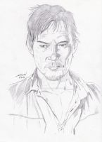 AMC's The Walking Dead: Daryl Dixon portrait by StevenWilcox