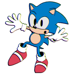 (Sonic)- 3D classic Sonic (Cuphead Style) by CutieTree