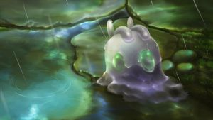 Goomy in the rain