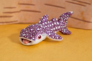 Whale shark polymer clay totem by lifedancecreations