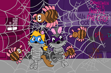 Drawlloween Insects and the City by StudioJelenaDX