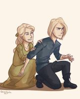 Aelin and Aedion by taratjah
