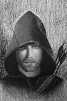 Green Arrow in Graffiti and Charcoal by pribellafronte