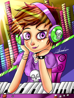 luna loud music studio by alejandroDestroxarte