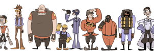 Exaggerated fortress 2 by MrDataTheAwesome