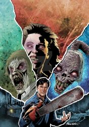 EVIL DEAD 2 - Variant Cover Color by Manthomex