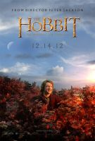 The Hobbit Bilbo climbs a Mirkwood tree poster by crqsf
