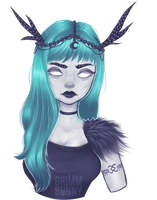 Faded witch by GrimmBunny